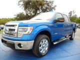 2014 Blue Flame Ford F150 XLT SuperCrew #91942802