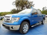 2014 Blue Flame Ford F150 XLT SuperCrew #91942801
