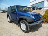 2009 Jeep Wrangler Surf Blue Pearl Coat