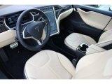 2013 Tesla Model S P85 Performance Tan Interior