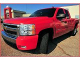 2007 Victory Red Chevrolet Silverado 1500 LT Extended Cab #9196662