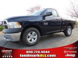 2014 True Blue Pearl Coat Ram 1500 Tradesman Regular Cab #92138280