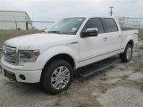 2014 White Platinum Ford F150 Platinum SuperCrew 4x4 #92194301