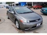 2007 Galaxy Gray Metallic Honda Civic EX Coupe #9182524