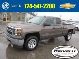 2014 Brownstone Metallic Chevrolet Silverado 1500 WT Double Cab 4x4 #92194681