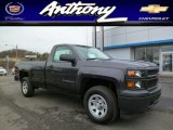 2014 Tungsten Metallic Chevrolet Silverado 1500 WT Regular Cab 4x4 #92194819