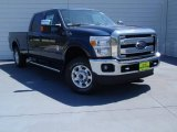 2014 Blue Jeans Metallic Ford F250 Super Duty XLT Crew Cab 4x4 #92194555