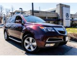 2011 Dark Cherry Pearl Acura MDX Technology #92238033