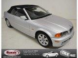 2001 Titanium Silver Metallic BMW 3 Series 325i Convertible #92238080