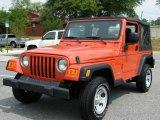 2006 Impact Orange Jeep Wrangler SE 4x4 #9191424