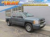 2011 Blue Granite Metallic Chevrolet Silverado 1500 LS Crew Cab 4x4 #92264989