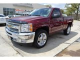 2013 Deep Ruby Metallic Chevrolet Silverado 1500 LT Regular Cab #92265234