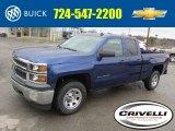 2014 Blue Topaz Metallic Chevrolet Silverado 1500 WT Double Cab 4x4 #92304639
