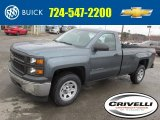2014 Blue Granite Metallic Chevrolet Silverado 1500 WT Regular Cab 4x4 #92304635