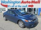 2007 Atomic Blue Metallic Honda Civic LX Coupe #92343864