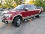 2014 Ruby Red Ford F150 Lariat SuperCrew 4x4 #92343760