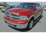 2009 Inferno Red Crystal Pearl Dodge Ram 1500 Laramie Crew Cab 4x4 #92344169