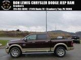 2014 Western Brown Ram 1500 Laramie Longhorn Crew Cab 4x4 #92433677