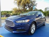 2013 Deep Impact Blue Metallic Ford Fusion SE #92522089