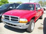 2004 Flame Red Dodge Dakota SLT Quad Cab 4x4 #9243358