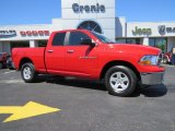 2012 Flame Red Dodge Ram 1500 SLT Quad Cab 4x4 #92551028