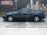 2002 True Blue Metallic Ford Mustang V6 Coupe #9234640