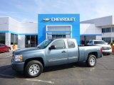 2011 Blue Granite Metallic Chevrolet Silverado 1500 LS Extended Cab 4x4 #92590716