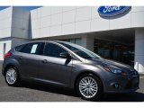 2014 Sterling Gray Ford Focus Titanium Hatchback #92590671