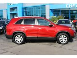 2011 Spicy Red Kia Sorento LX #92652011