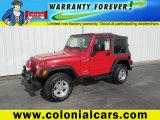 2006 Flame Red Jeep Wrangler Sport 4x4 #92718423