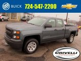 2014 Blue Granite Metallic Chevrolet Silverado 1500 WT Double Cab 4x4 #92747301