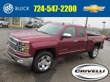 2014 Deep Ruby Metallic Chevrolet Silverado 1500 LTZ Double Cab 4x4 #92747298