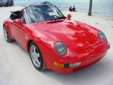 1995 Guards Red Porsche 911 Carrera Cabriolet #92746882