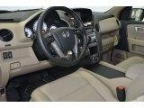 2014 Honda Pilot Touring 4WD Beige Interior
