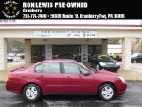 2005 Sport Red Metallic Chevrolet Malibu LS V6 Sedan #92747111