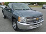 2012 Blue Granite Metallic Chevrolet Silverado 1500 LT Regular Cab #92789706
