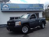 2008 Blue Granite Metallic Chevrolet Silverado 1500 Work Truck Regular Cab #92789787