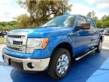 2014 Blue Flame Ford F150 XLT SuperCrew #92789303
