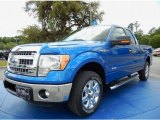 2014 Blue Flame Ford F150 XLT SuperCab #92832488