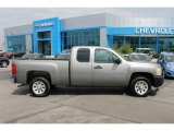 2008 Graystone Metallic Chevrolet Silverado 1500 Work Truck Extended Cab #92876099