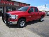2007 Flame Red Dodge Ram 1500 SLT Quad Cab 4x4 #92876556