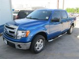 2014 Blue Flame Ford F150 XLT SuperCrew #92972446