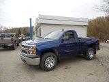 2014 Blue Topaz Metallic Chevrolet Silverado 1500 WT Regular Cab 4x4 #92972494