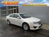 2010 White Platinum Tri-coat Metallic Ford Fusion Hybrid #93006164
