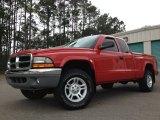 2004 Flame Red Dodge Dakota SLT Club Cab 4x4 #93006615