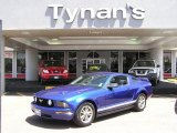 2005 Sonic Blue Metallic Ford Mustang V6 Deluxe Coupe #9283337