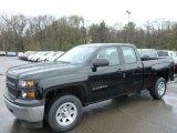 2014 Black Chevrolet Silverado 1500 WT Double Cab 4x4 #93038814