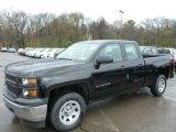 2014 Black Chevrolet Silverado 1500 WT Double Cab 4x4 #93038813