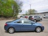 2007 Atomic Blue Metallic Honda Civic LX Coupe #93161533