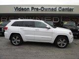 2014 Bright White Jeep Grand Cherokee Overland 4x4 #93246213
